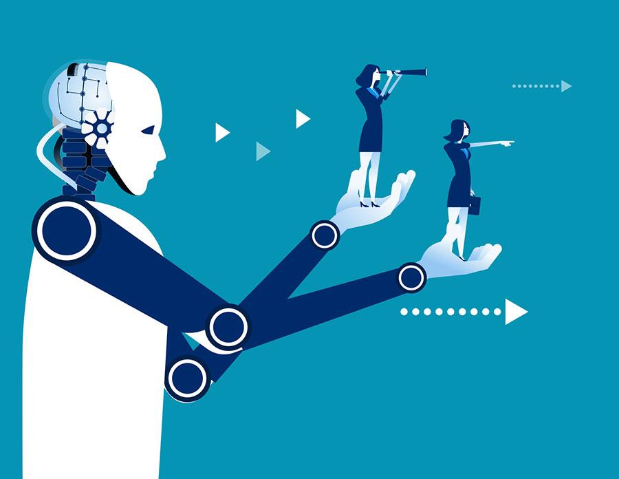 Robot dirige les hommes